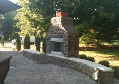 ADJ Landscaping Services - Outdoor Fireplace