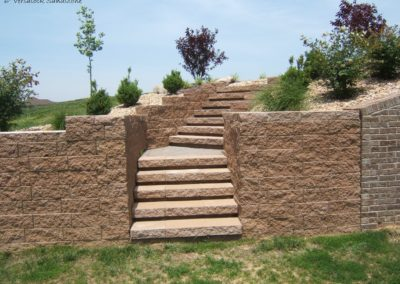 ADJ Landscaping Services - Stone Retaining Wall and Stairs