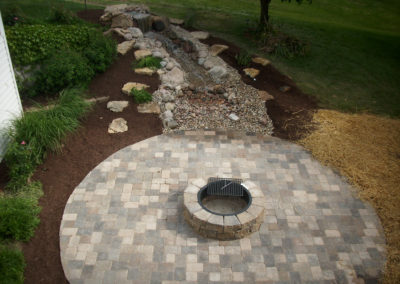ADJ Landscaping - Retaining Wall Fire Pit Patio Overview
