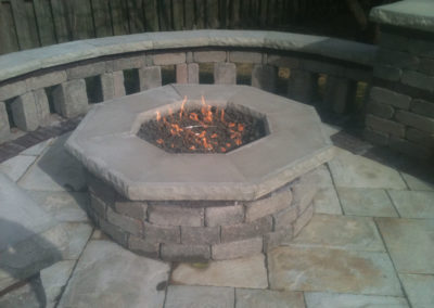 AJD Landscaping - Retaining Wall Outside Fire Pit